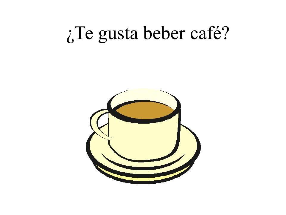 ¿Te gusta beber café?