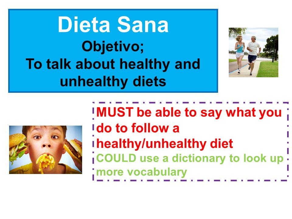 Refer to pp.140-141vocabulary book & texts from todays lesson todos los días a menudo a veces Mi dieta Nombre: ______________