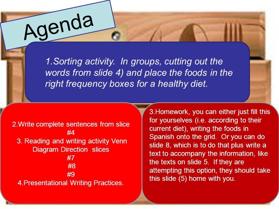 Hoy vamos a…….. hablar de la dieta sana y malsana dar consejos para mejorar la dieta aprender vocabulario para describir la dieta