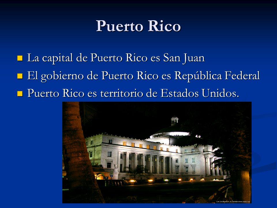 La capital de Puerto Rico es San Juan La capital de Puerto Rico es San Juan El gobierno de Puerto Rico es República Federal El gobierno de Puerto Rico