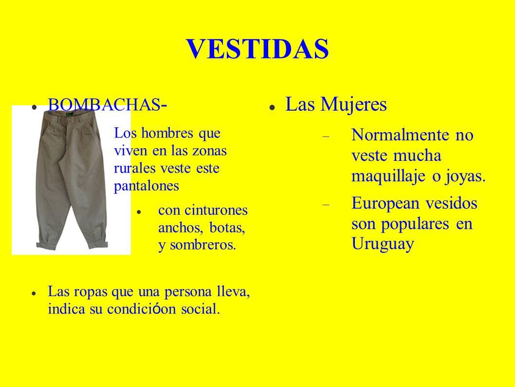 VESTIDAS BOMBACHAS - Los hombres que viven en las zonas rurales veste este pantalones con cinturones anchos, botas, y sombreros.