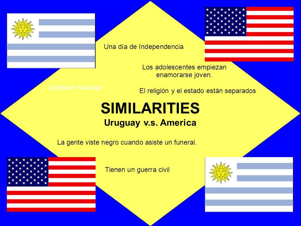 SIMILARITIES Uruguay v.s.