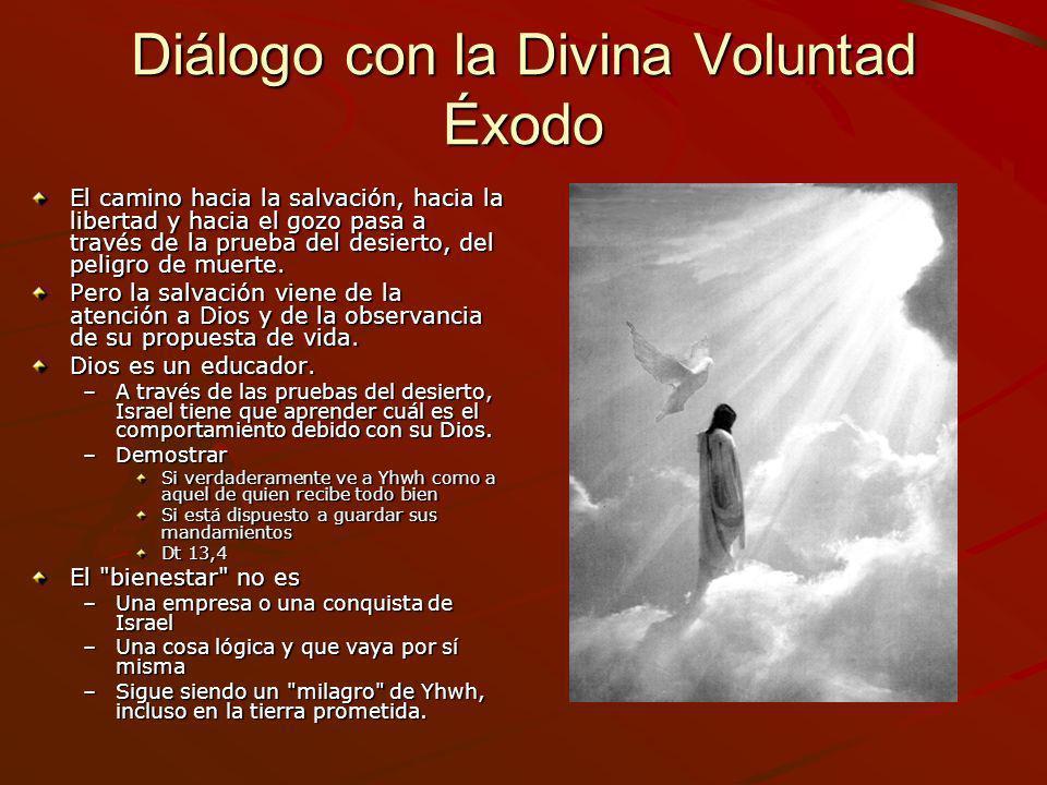 Diálogo con la Divina Voluntad Éxodo El camino hacia la salvación, hacia la libertad y hacia el gozo pasa a través de la prueba del desierto, del peli