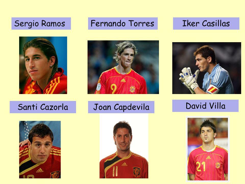 Fernando TorresSergio RamosIker Casillas Santi CazorlaJoan Capdevila David Villa