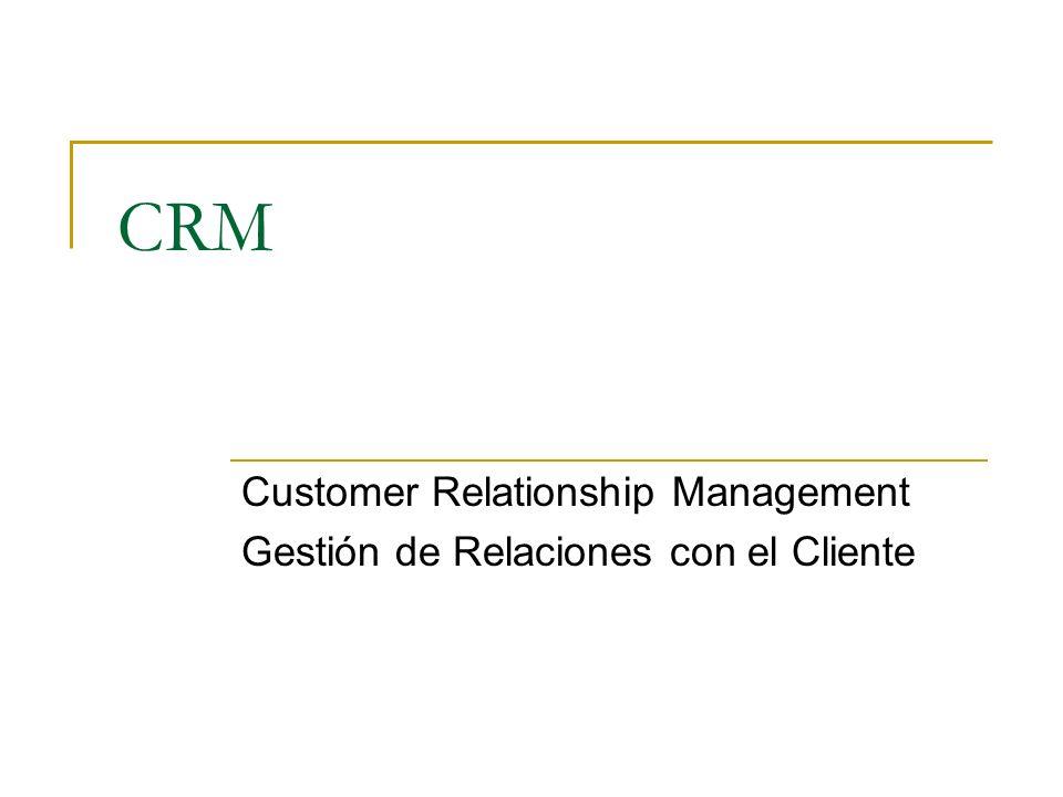 CRM Customer Relationship Management Gestión de Relaciones con el Cliente