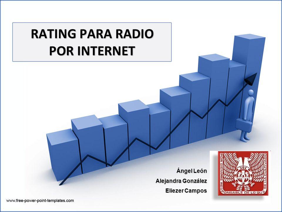 RATING PARA RADIO POR INTERNET Ángel León Alejandra González Eliezer Campos