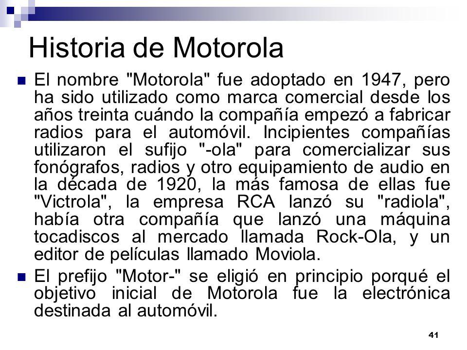 41 Historia de Motorola El nombre