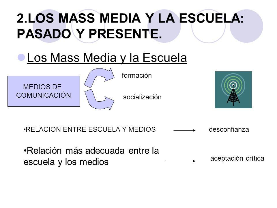 2.LOS MASS MEDIA Y LA ESCUELA: PASADO Y PRESENTE.