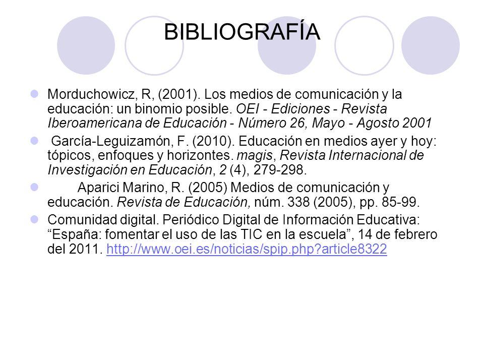 BIBLIOGRAFÍA Morduchowicz, R, (2001).