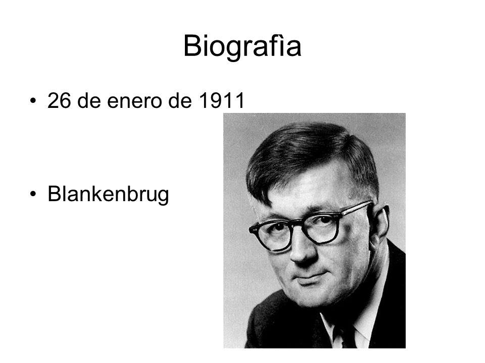Biografìa 26 de enero de 1911 Blankenbrug