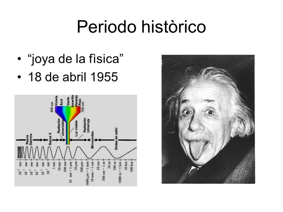 Periodo històrico joya de la fìsica 18 de abril 1955