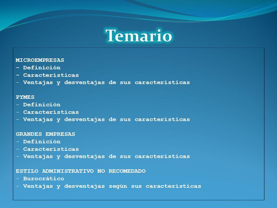 MICROEMPRESAS - Definición - Características - Ventajas y desventajas de sus características PYMES - Definición - Características - Ventajas y desvent