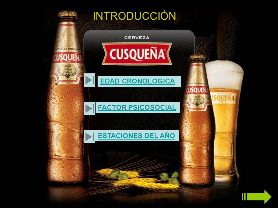 VOLVER ATRAS El consumidor Cerveza es de Espíritu sociable e independiente.