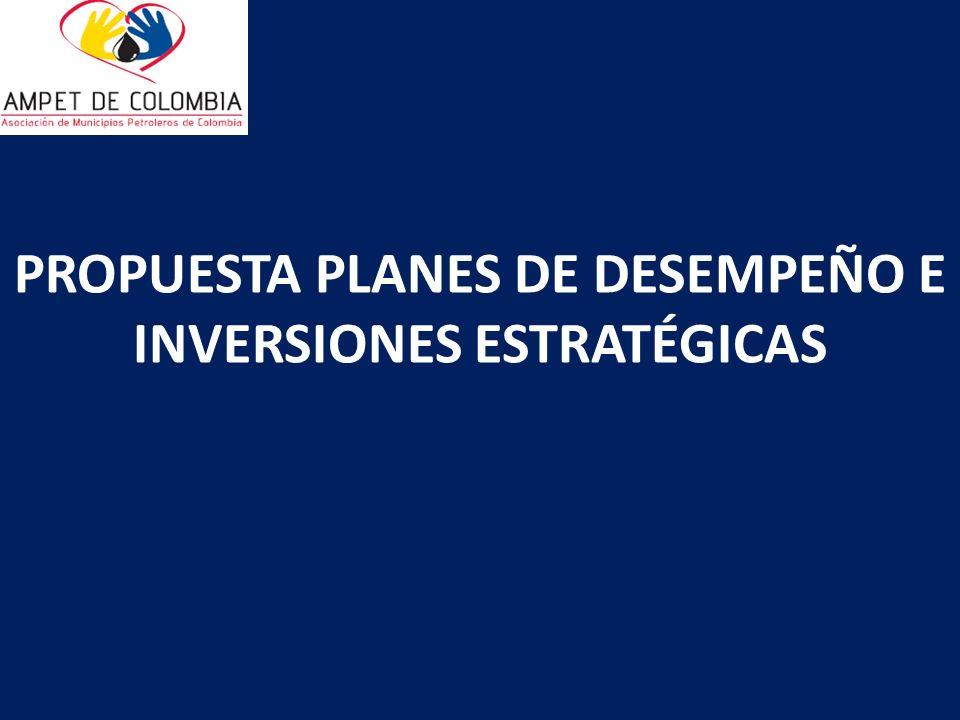 PROPUESTA PLANES DE DESEMPEÑO E INVERSIONES ESTRATÉGICAS