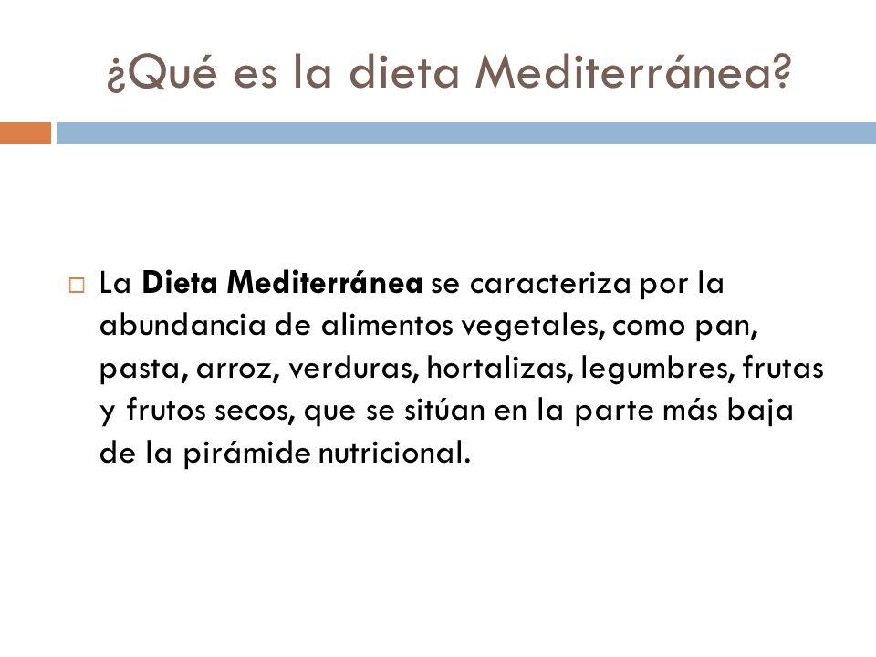 ¿Qué es la dieta Mediterránea.