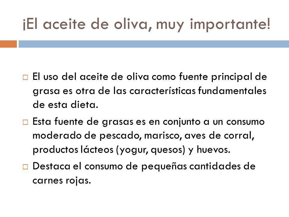 ¡El aceite de oliva, muy importante.