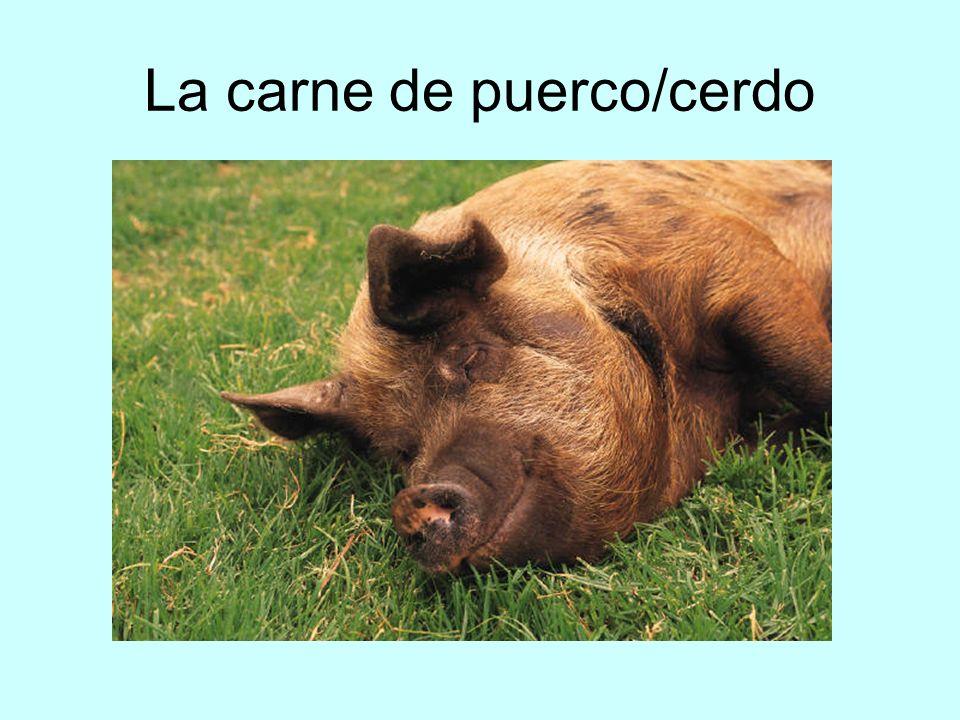 La carne de puerco/cerdo