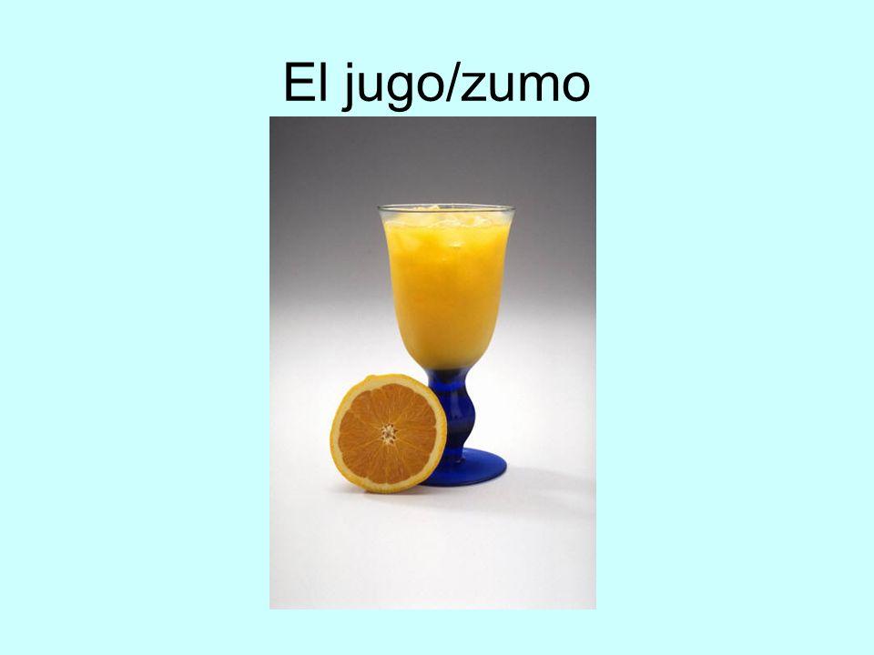 El jugo/zumo