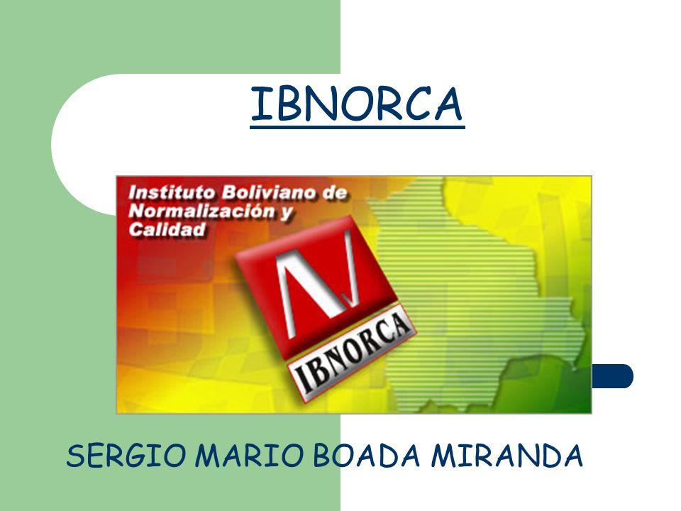 IBNORCA SERGIO MARIO BOADA MIRANDA