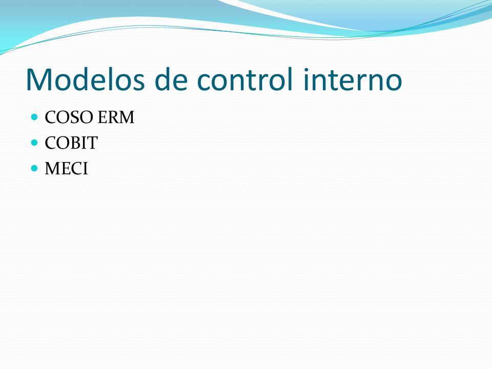 Modelos de control interno COSO ERM COBIT MECI
