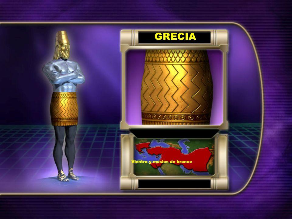 GRECIA Vientre y muslos de bronce
