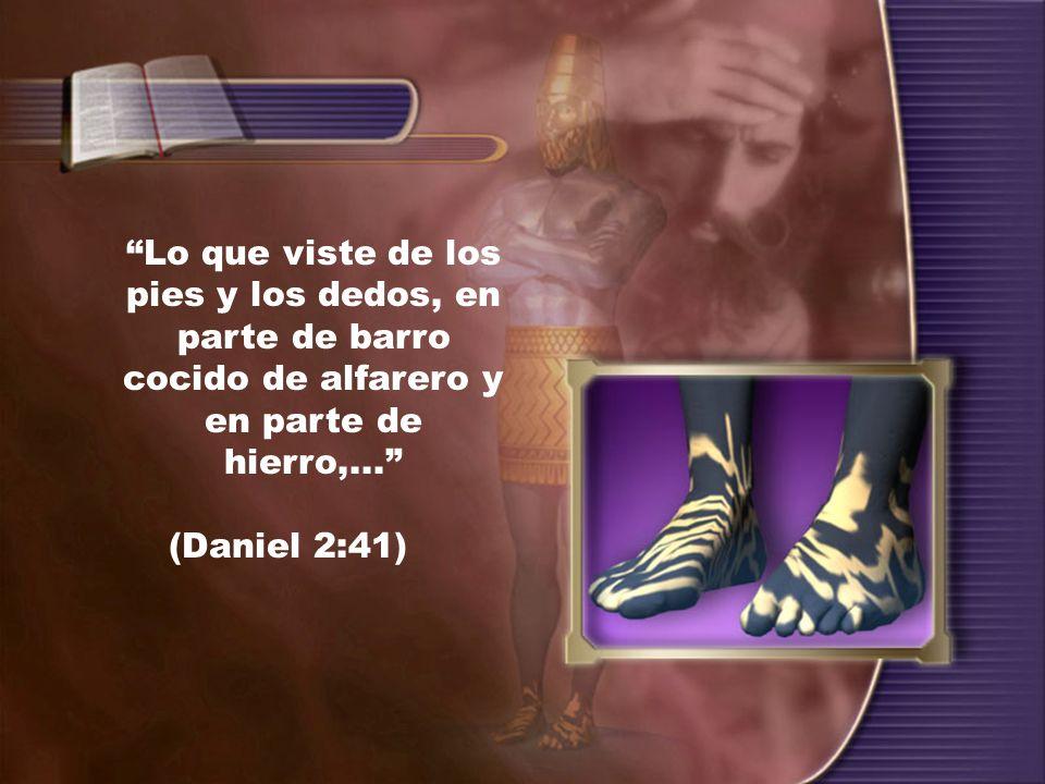 Lo que viste de los pies y los dedos, en parte de barro cocido de alfarero y en parte de hierro,... (Daniel 2:41)