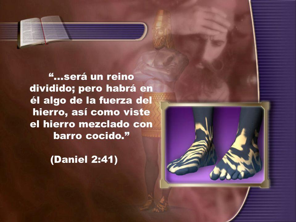 ...será un reino dividido; pero habrá en él algo de la fuerza del hierro, así como viste el hierro mezclado con barro cocido. (Daniel 2:41)