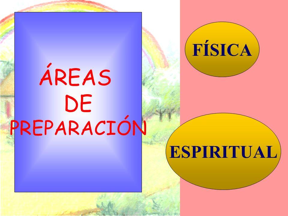 ÁREAS DE PREPARACIÓN FÍSICA ESPIRITUAL