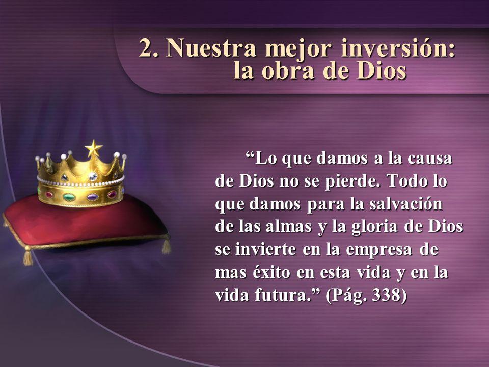 3.El tesoro del cielos aumenta constantemente su valor.