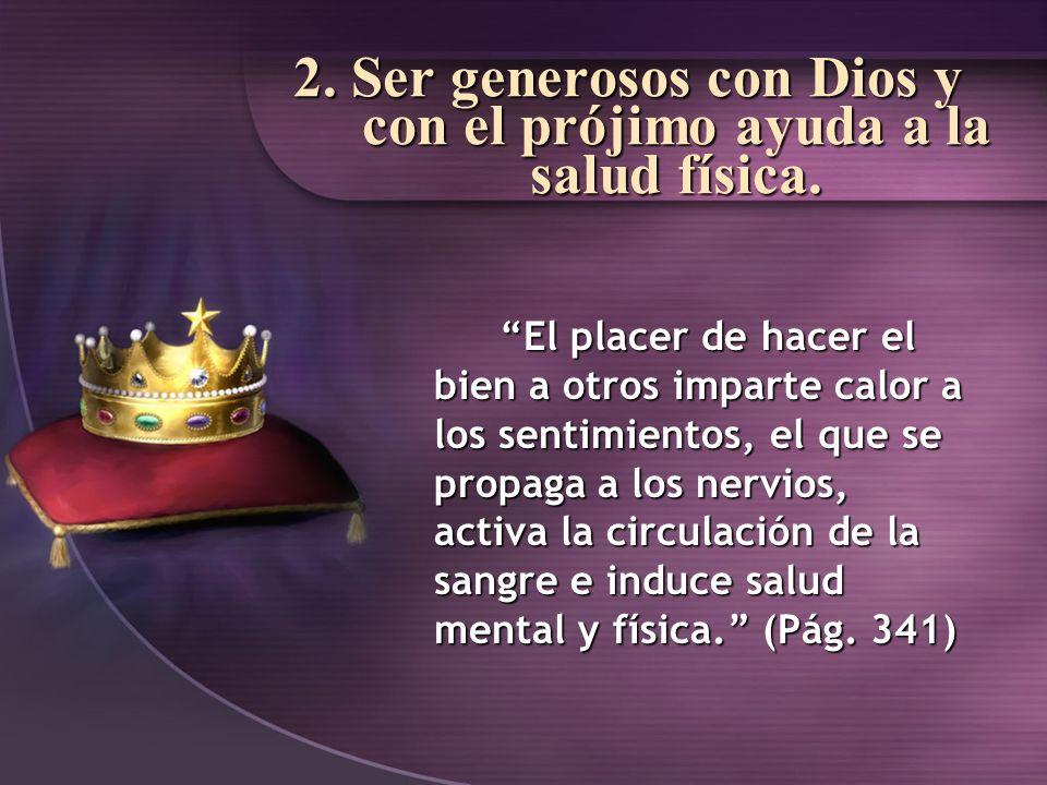 La bendición de Dios tiene un efecto sanador; y los que benefician abundantemente a otros experimentaran esa maravillosa bendición en sus corazones y sus vidas.
