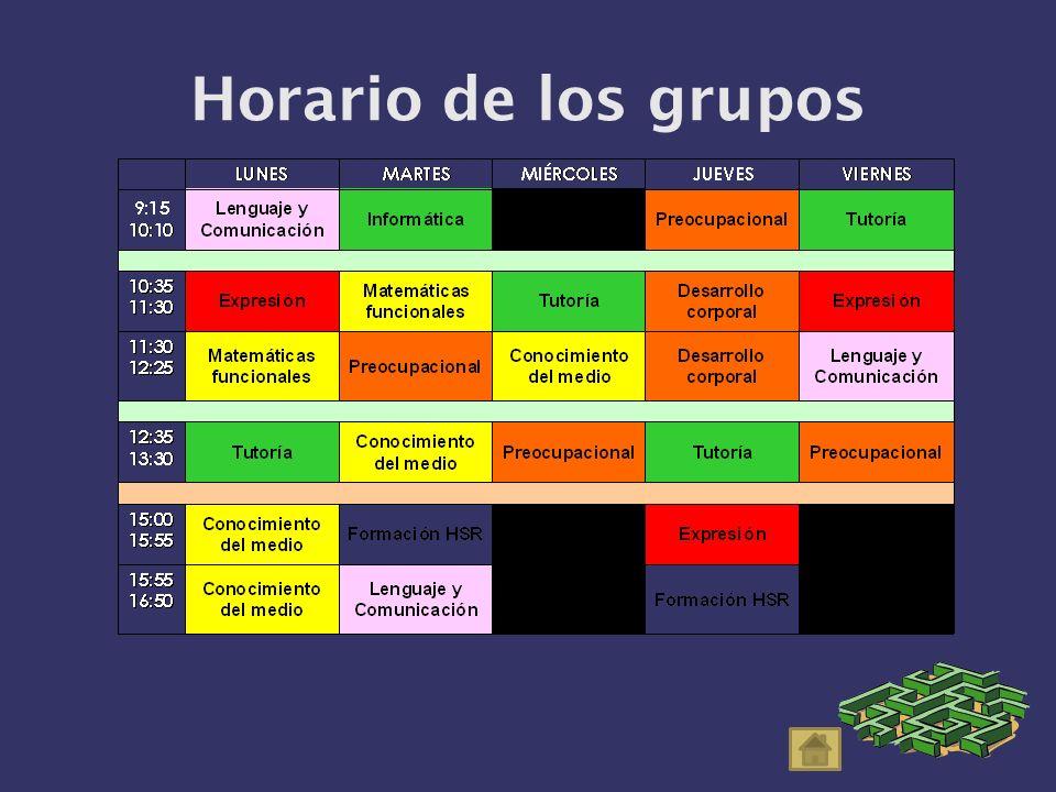 Horario de los grupos