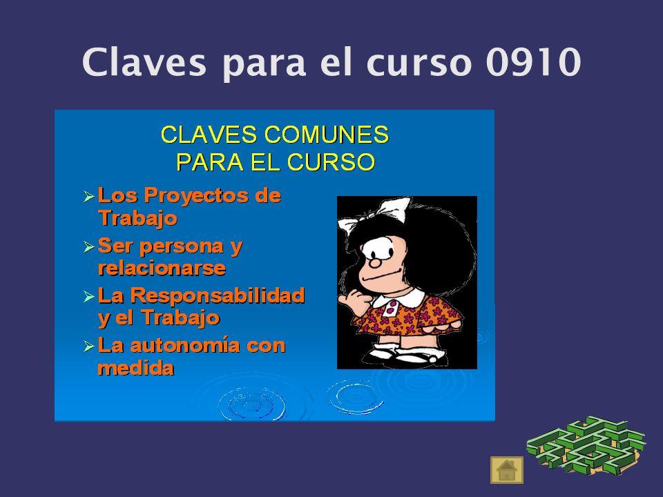 Claves para el curso 0910
