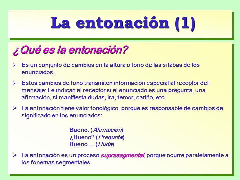 La entonación (1) ¿Qué es la entonación.