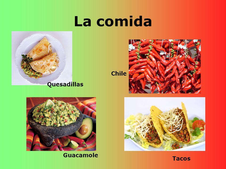 La comida Quesadillas Chile Guacamole Tacos