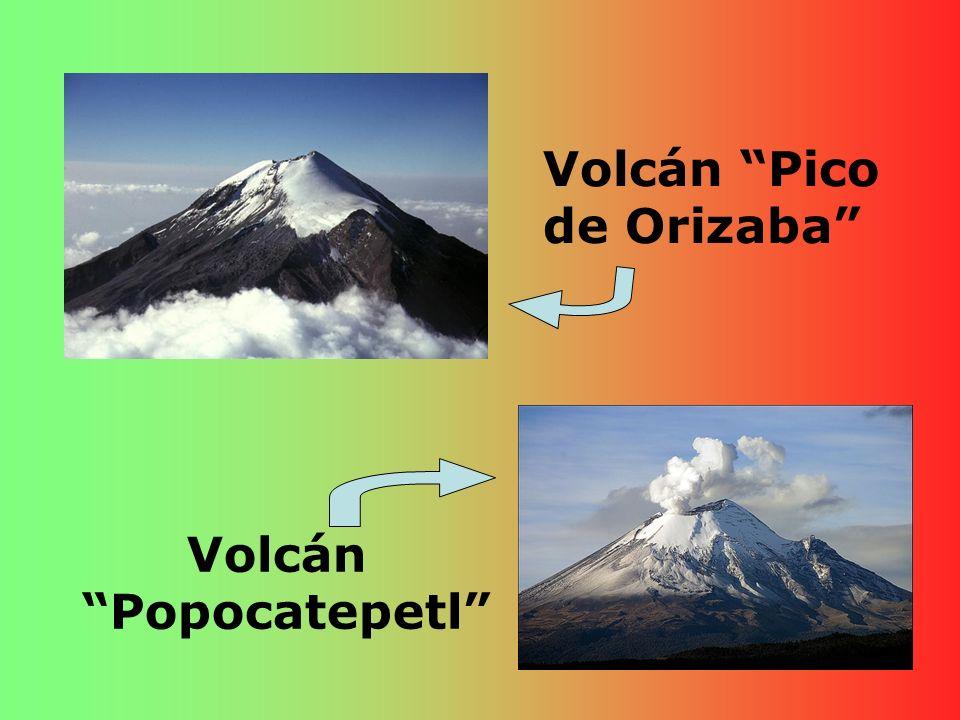 Volcán Pico de Orizaba Volcán Popocatepetl