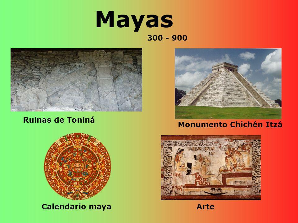 Mayas Ruinas de Toniná Calendario maya Monumento Chichén Itzá Arte 300 - 900