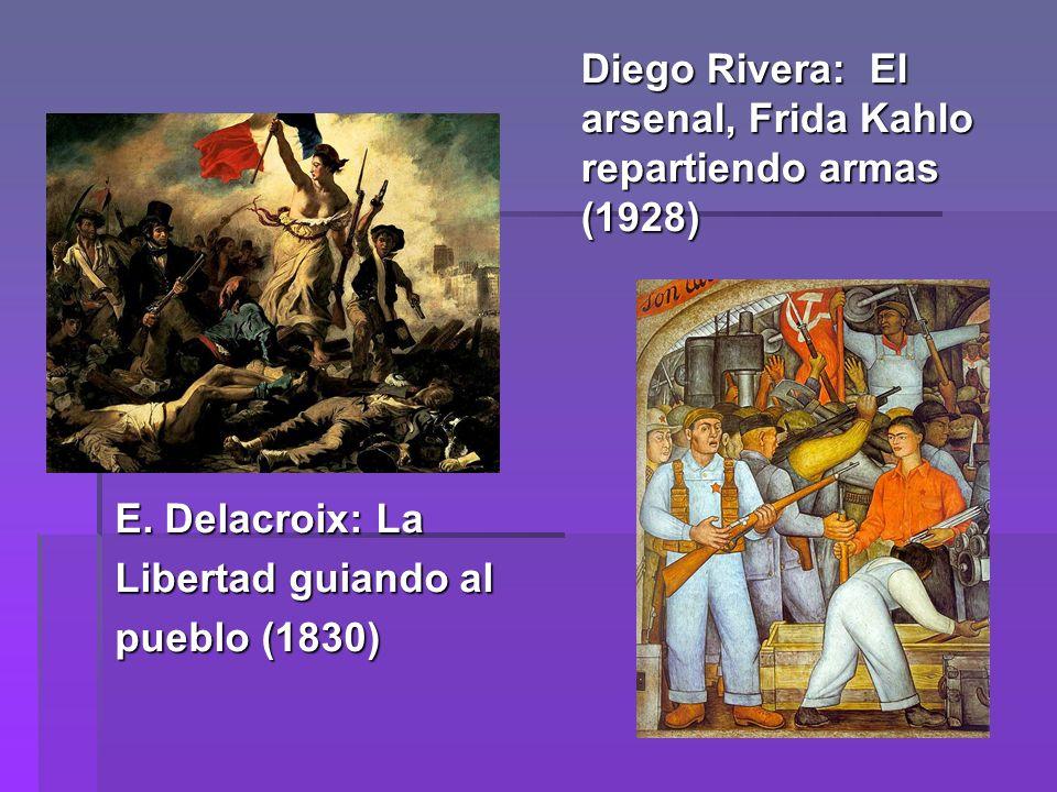 Diego Rivera: El arsenal, Frida Kahlo repartiendo armas (1928) E.