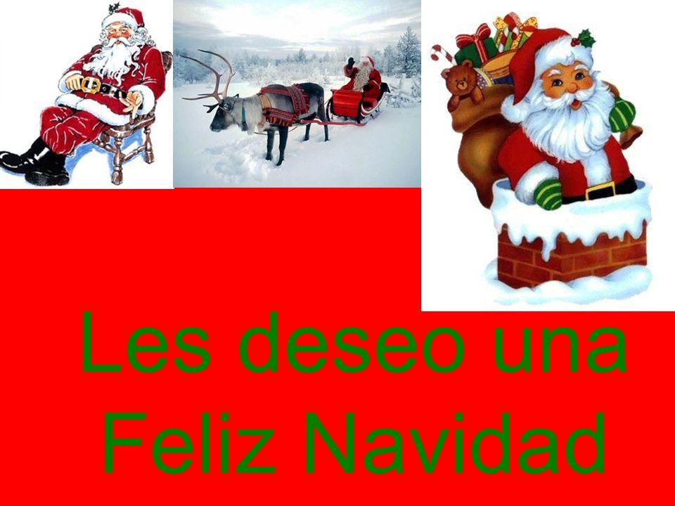 Les deseo una Feliz Navidad