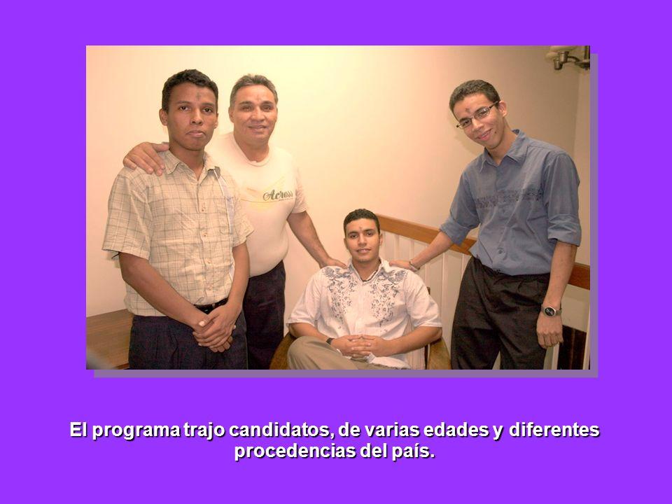 El programa trajo candidatos, de varias edades y diferentes procedencias del país.