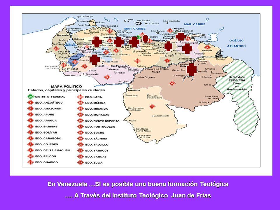 En Venezuela …SI es posible una buena formación Teológica …. A Través del Instituto Teológico Juan de Frías