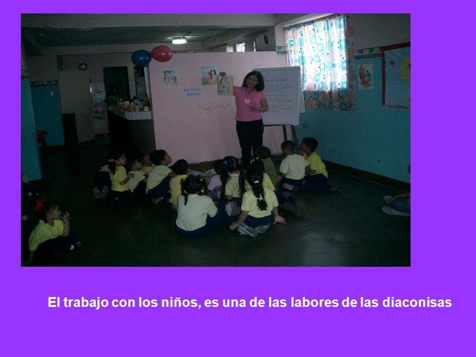 El trabajo con los niños, es una de las labores de las diaconisas