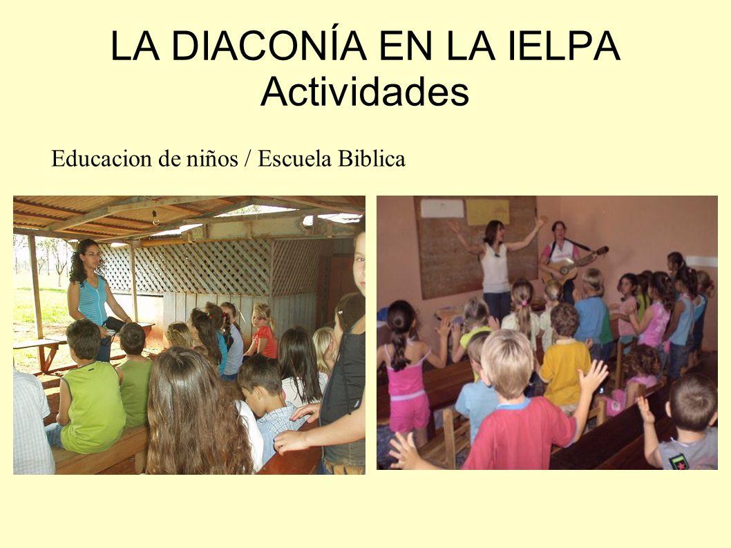 La capacitación – Instituto Bíblico En Paraguay algunas mujeres han recibido formación específica diaconal (énfasis educacional) del programa diaconal de Seminarios, y de los Institutos Bíblicos (total o parcial).