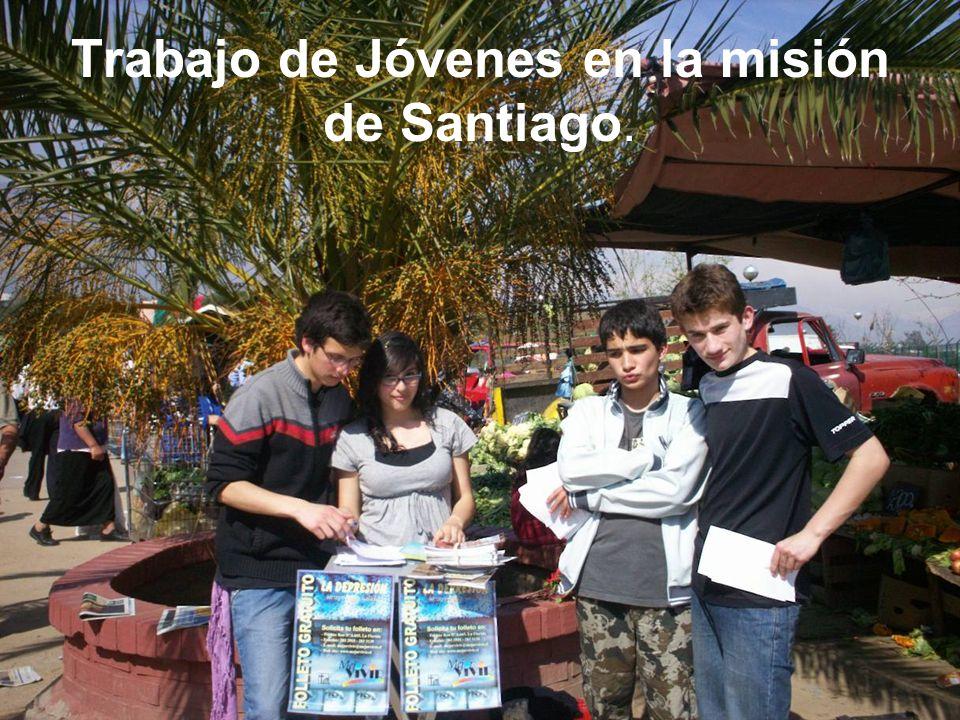 Trabajo de Jóvenes en la misión de Santiago.