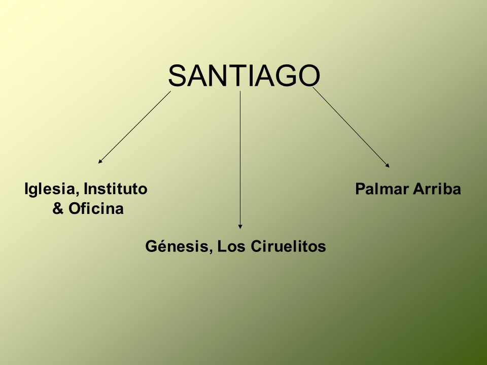 SANTIAGO Iglesia, Instituto & Oficina Génesis, Los Ciruelitos Palmar Arriba