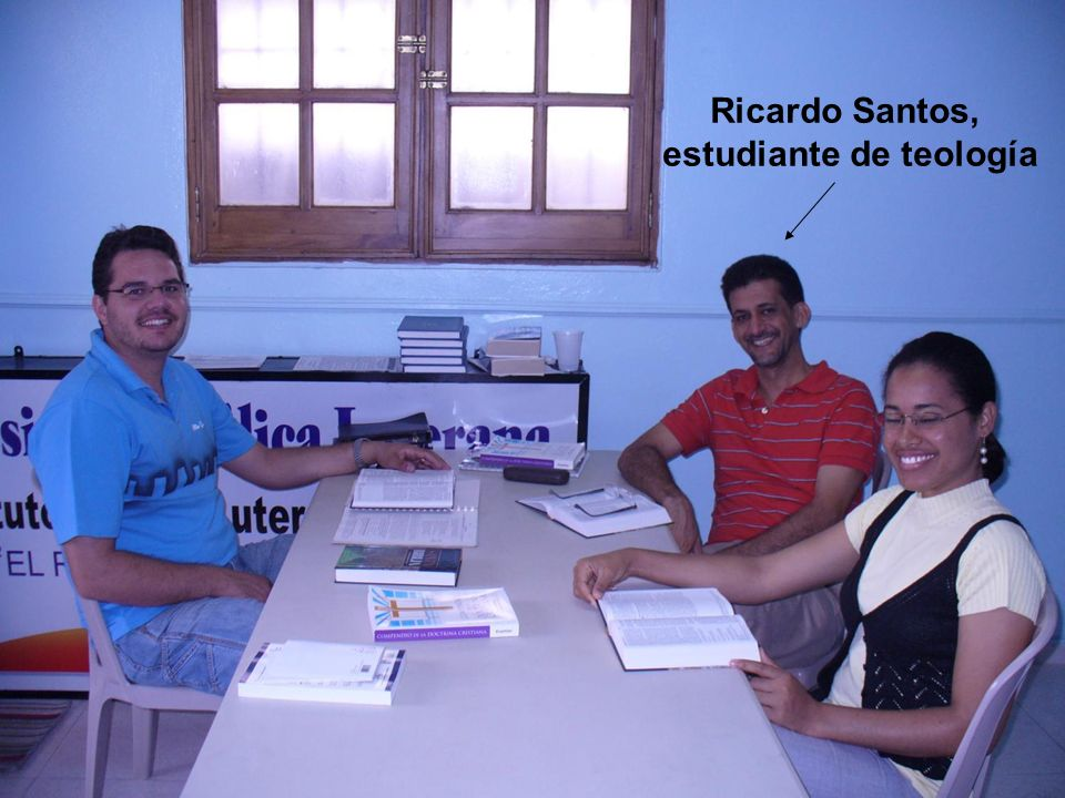 Ricardo Santos, estudiante de teología