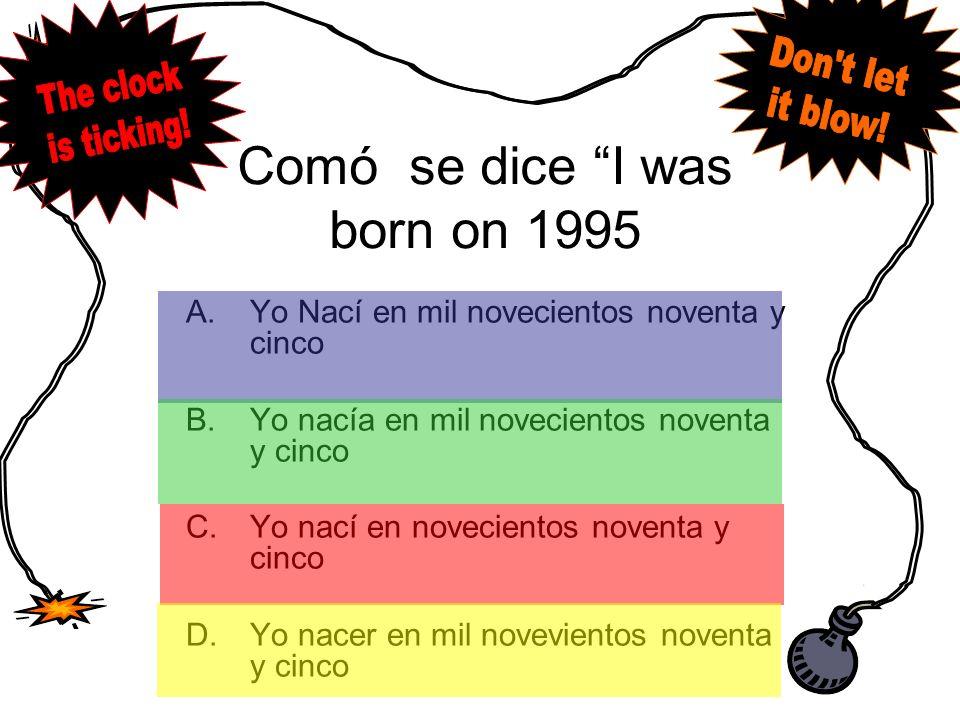 Answer B. Saldremos