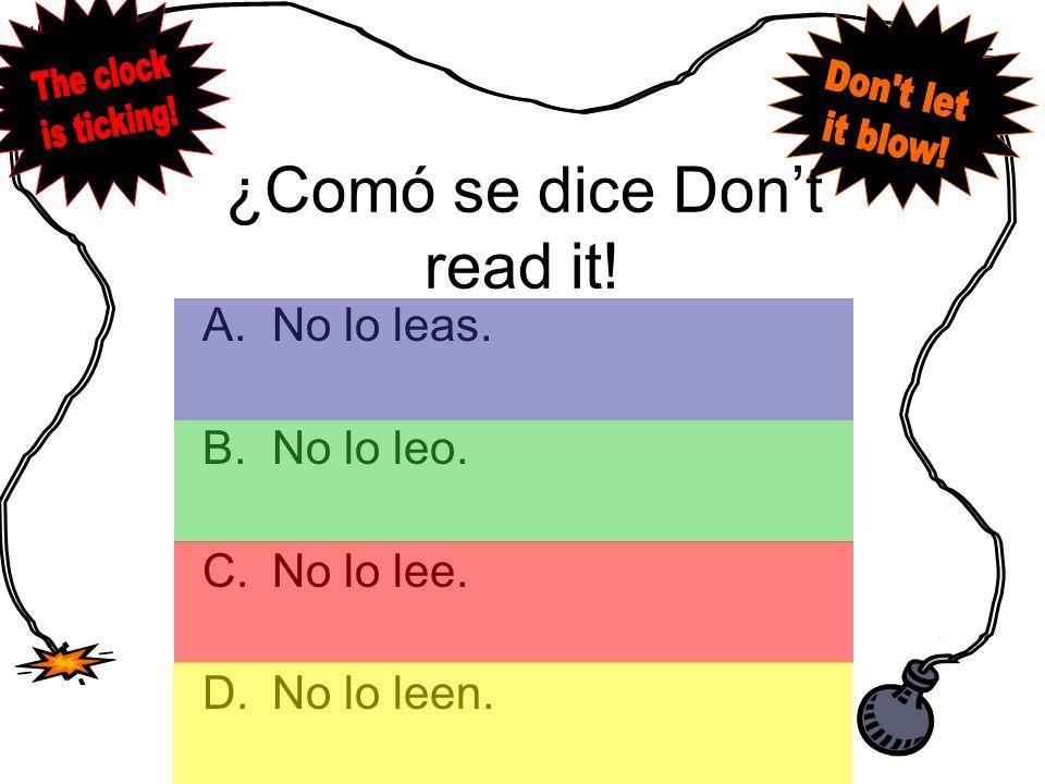 Answer A.Yo tendré estudiar para mi examen de español mañana.