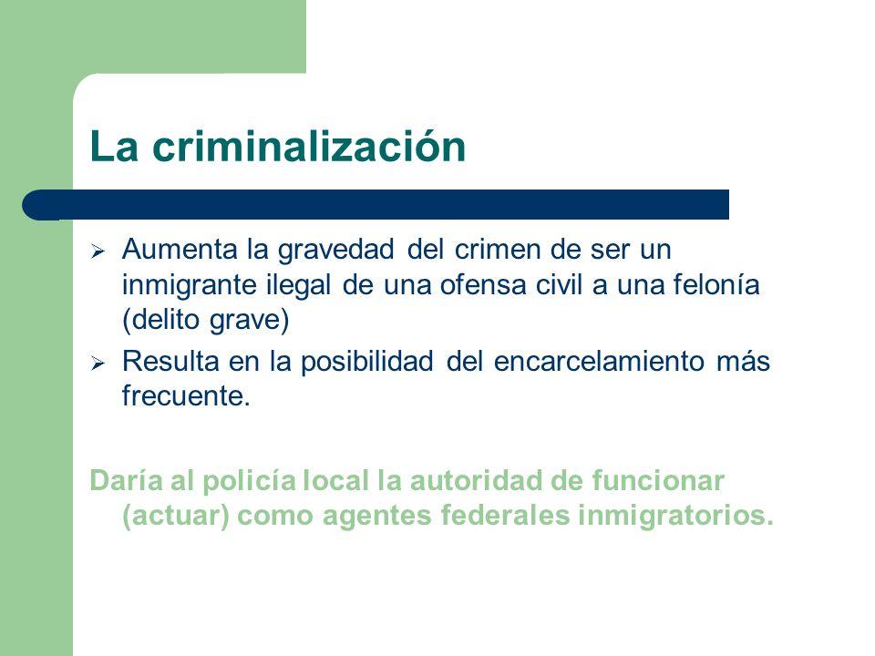 Los problemas ¿Cómo nos dirigimos al problema de los inmigrantes indocumentados en los EU.