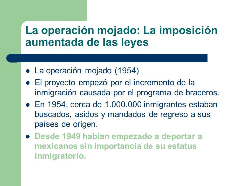 Immigration Reform and Control Act; la aministía Immigration Reform and Control Act ( 1986)– Otorgó amnistía y residencia a los que estaban en el país desde el primero de enero de 1982.