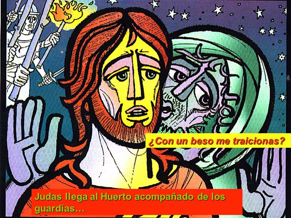 Judas llega al Huerto acompañado de los guardias… ¿Con un beso me traicionas?